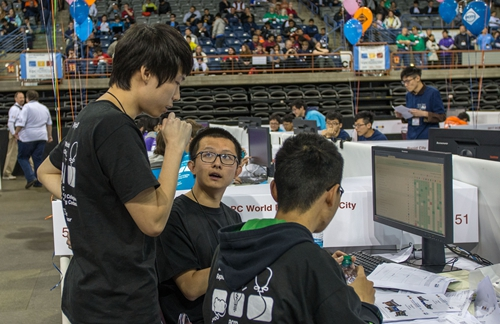 Peking University delegation during the contest.jpg